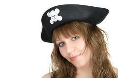 corsair girl - stock photo