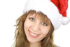 happy santa - stock photo