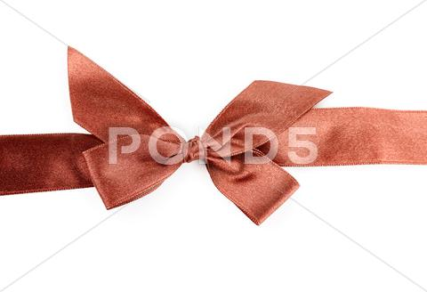 Stock photo of red holiday ribbon