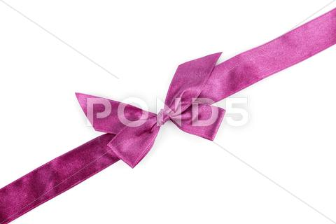 Stock photo of purple holiday ribbon