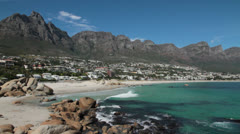 Camps Bay,Cape Town Stock Footage