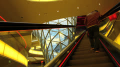 TL Myzeil shopping mall arcade escalator in Frankfurt Germany Stock Footage