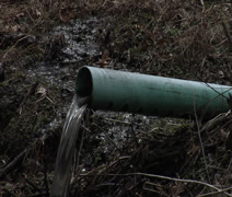 The Outdoor Drain Pipe Stock Footage