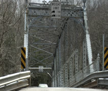 Vehicles Crossing the old bridge Stock Footage