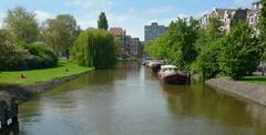 Stock Photo of canal and houses