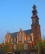 westerkerk amsterdam - stock photo