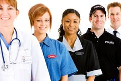 Occupations: focus on housekeeper Stock Photos