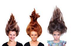 glamour beautiful hair style - stock photo