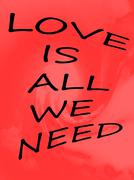 Love Is All We Need Stock Illustration
