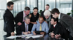 Happy successful business team get good news Stock Footage