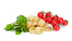 Tricolor pasta Stock Photos