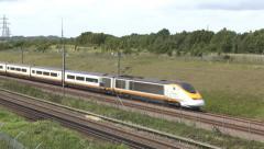 A Eurostar train in Kent, UK. Stock Footage