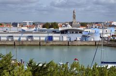 Port of Saint-Gilles-Croix-de-Vie in France - stock photo