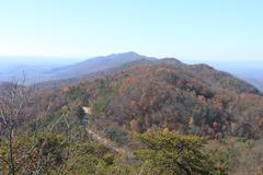East Tennessee Road -- Late Autumn - stock photo