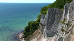 Cliff seen from above Stock Footage