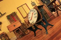 Antique Store -- Scale on Chair Stock Photos