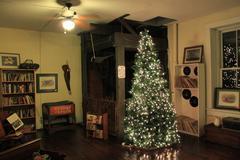 Antique Shop -- Christmas Display Stock Photos