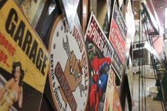 Retro Poster Wall Stock Photos