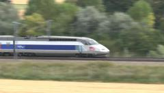 A French TGV train in France. Stock Footage