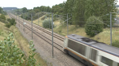 A Eurostar train in northern France. Stock Footage