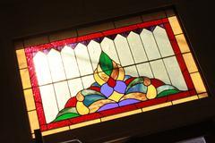 Back-lit Stain-glass Window - stock photo