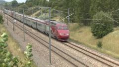 A Thalys PBKA high-speed train in France. Stock Footage
