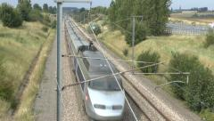 Stock Video Footage of A French SNCF train in France.