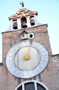 tower's clock in venice - stock photo