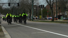 Boston Police Bicycle Unit Stock Footage