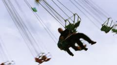 Carousel luna park 03 Stock Footage
