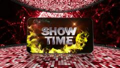11 disco red showtime disco Stock Footage