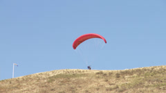 Hang Glider Take Off Stock Footage