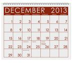 Calendar: december 2013 Stock Illustration
