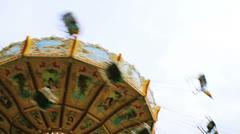 Carousel luna park 04 Stock Footage