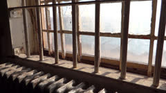 Prison Window Bars at Alcatraz - stock footage