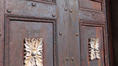Rusty Mausoleum Doors Stock Footage
