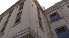 Prison Building at Alcatraz - stock footage