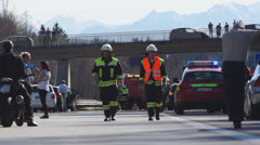 Accident on German highway, Bavaria, #2 - stock footage