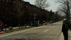 Female Boston Marathon Runners Stock Footage