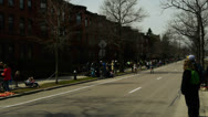 Stock Video Footage of Female Boston Marathon Runners