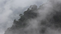Mist rolling over mountains - stock footage