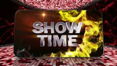 14 disco red showtime disco transition Stock Footage