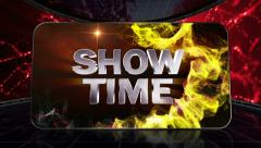 15 disco red showtime grid transition Stock Footage