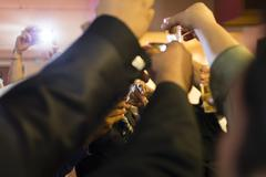 Celebratory Toast / Salute Stock Photos