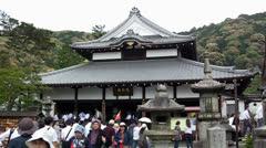 Kiyomizu-dera temple, Kyoto, Japan Stock Footage