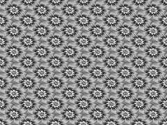 Silver Daisy Pattern Stock Illustration