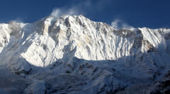 Himalayan Extreme Mountain Peak Annapurna In Nepal Stock Footage