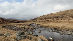 Stream on Rannoch Moor Scotland Stock Footage