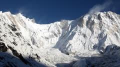 Himalayan Extreme Mountain Peak Annapurna In Nepal Stock Footage