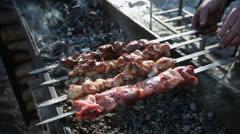 Shashlyk BBQ Stock Footage